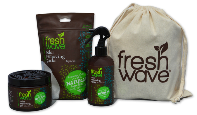 Fresh Wave non-toxic odor eliminating products