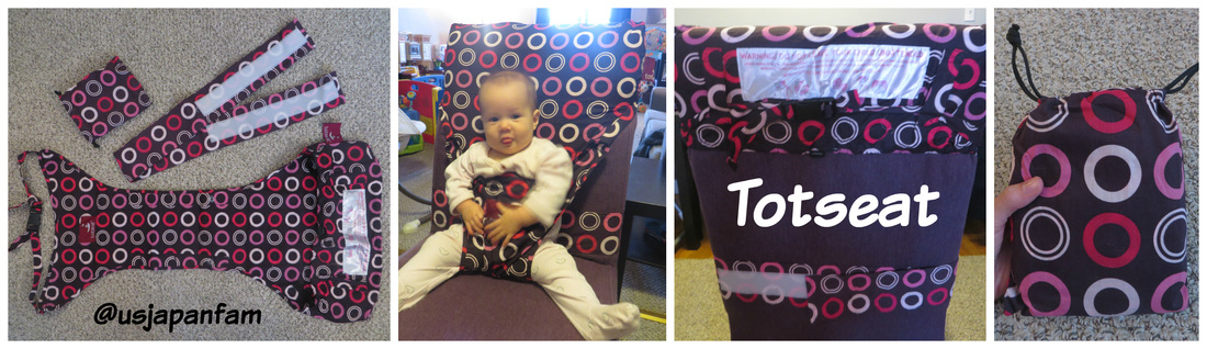 US Japan Fam reviews Totseat portable high chair
