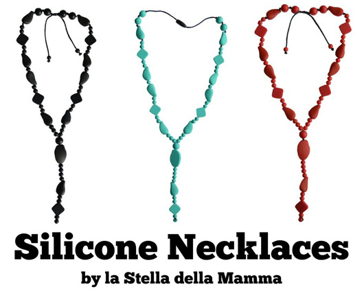 US-Japan Fam reviews and giveaway two of Stella Mamma's new line of nontoxic silicone necklaces.