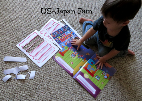 US-Japan Fam reviews Stickie Story, personalized sticker story books.