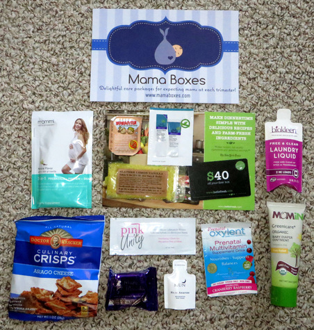 US-Japan Fam reviews Mama Boxes, full of great samples for pregnant women and their newborns.