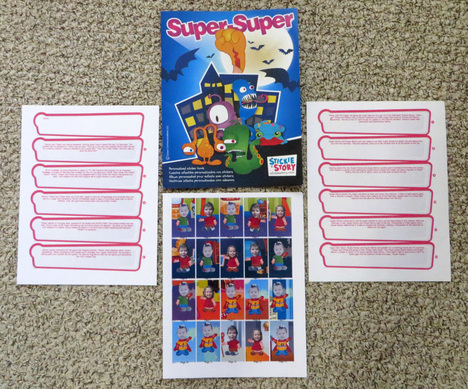 US-Japan Fam reviews Stickie Story, personalized sticker story books!