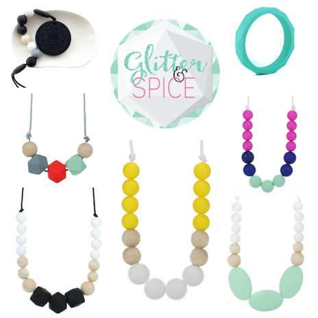 US-Japan Fam loves Glitter & Spice's teething jewelry!