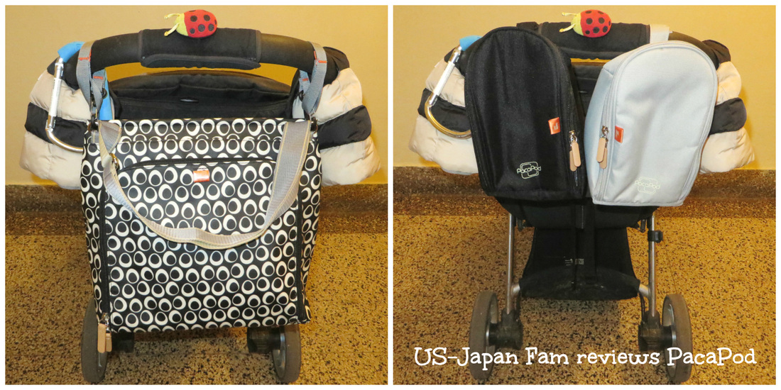 US-Japan Fam review's PacaPod's Jura 3-in-1 diaper bag.