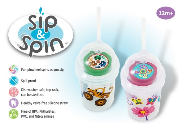 US-Japan fam reviews nuSpin Kids' Zoomi Sip & Spin straw cup