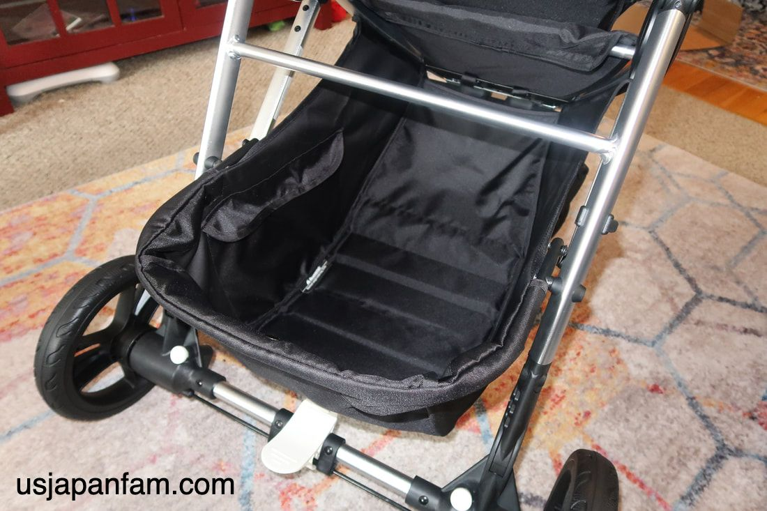 US Japan Fam reviews Mockingbird stroller - with massive 25-pound load max basket!