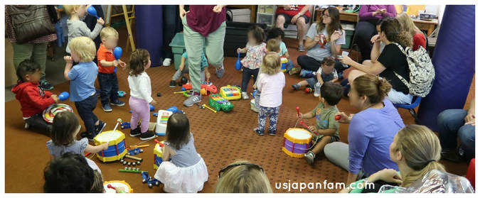 US Japan Fam reviews Union Church Playgroup in Bay Ridge, Brooklyn - music circle