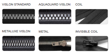 Types of zippers that work with Kokoala coat extensions