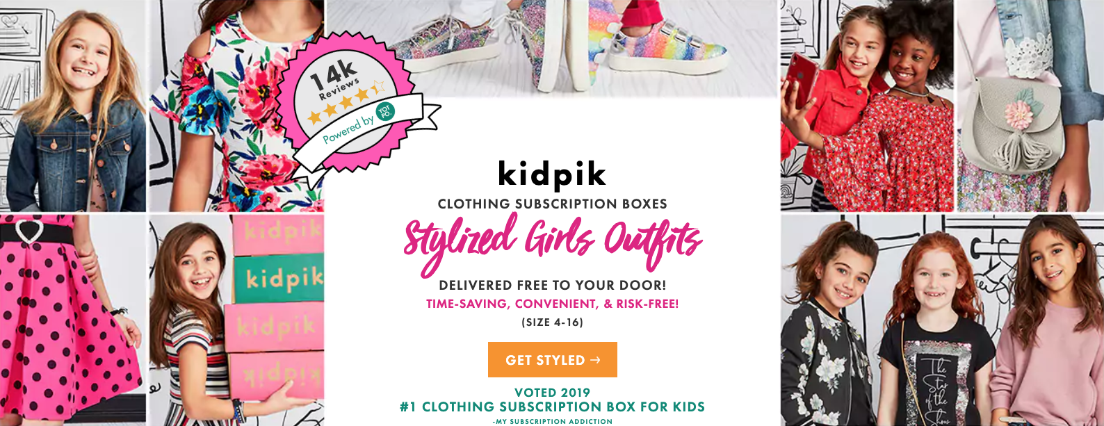 kidpik clothing subscription boxes for girls!