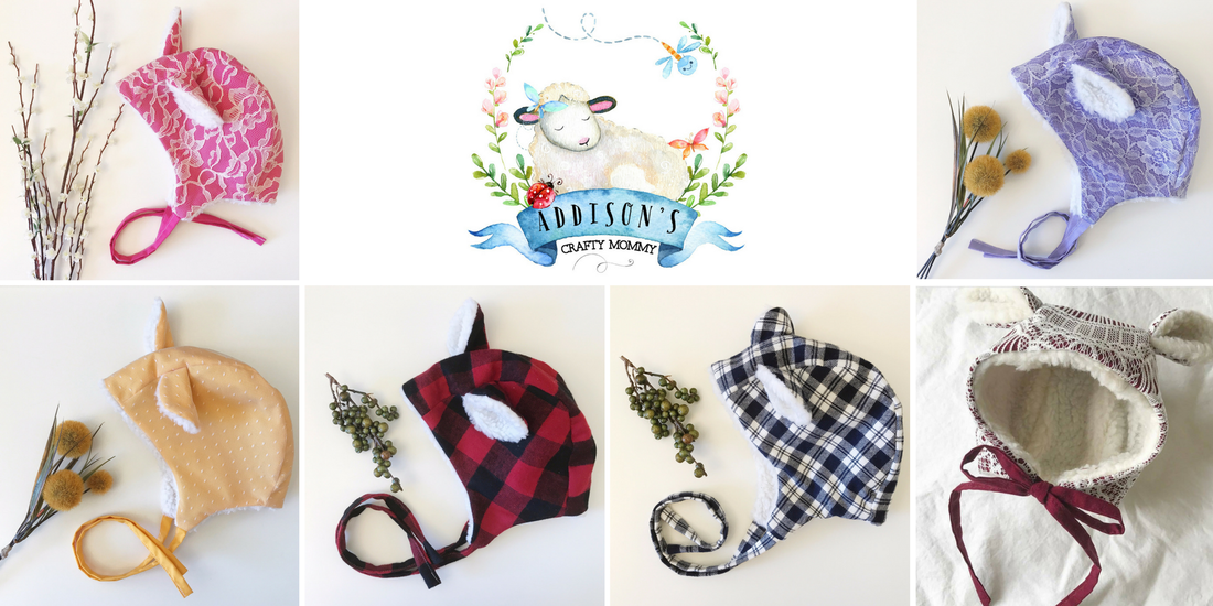 Win a handmade bonnet from Addison's Crafty Mommy on Etsy in US Japan Fam's $600 value Toddler Fall Faves Giveaway!