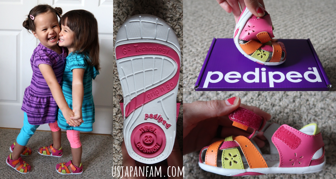 US Japan Fam reviews pediped's Grip 'n Go Nikki Sandals