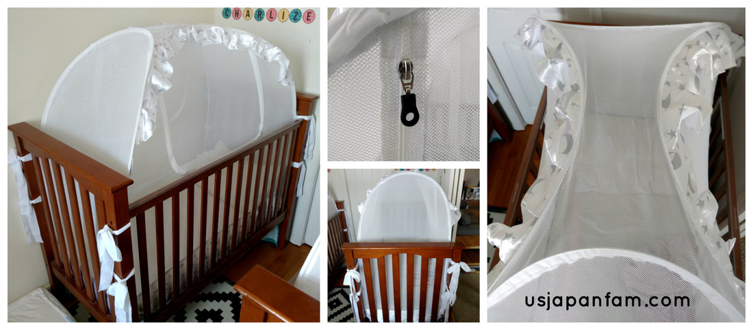 US Japan Fam reviews the Baby Crib Safety Net crib tent