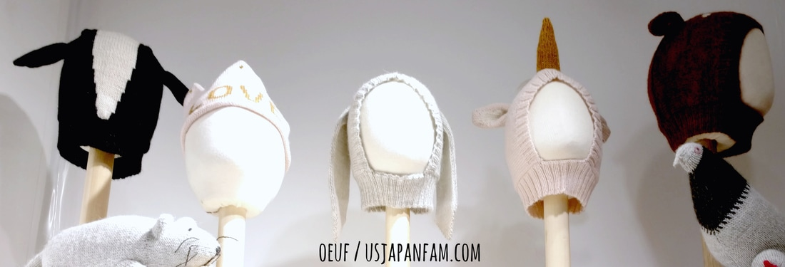 US Japan Fam loves Oeuf's hats from the Playtime New York trade show!