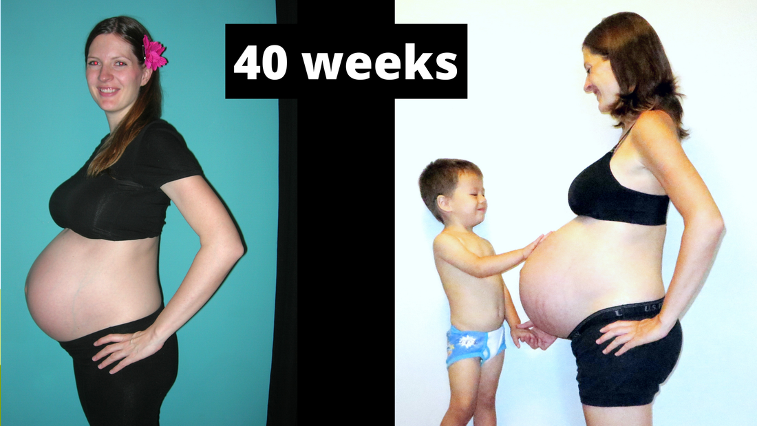 US Japan Fam - Comparing my singleton and twin pregnancy - 40 weeks belly full term twins!