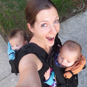 US Japan Fam's 1st time tandem wearing twins in the TwinGo Baby Carrier