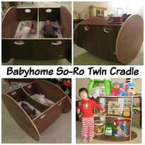 US Japan Fam loves the Babyhome So-Ro Twin Cradle