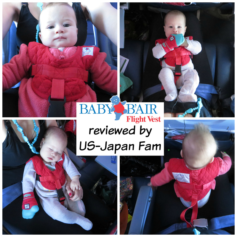 US-Japan Fam reviews Baby B'Air Infant Flight Vest