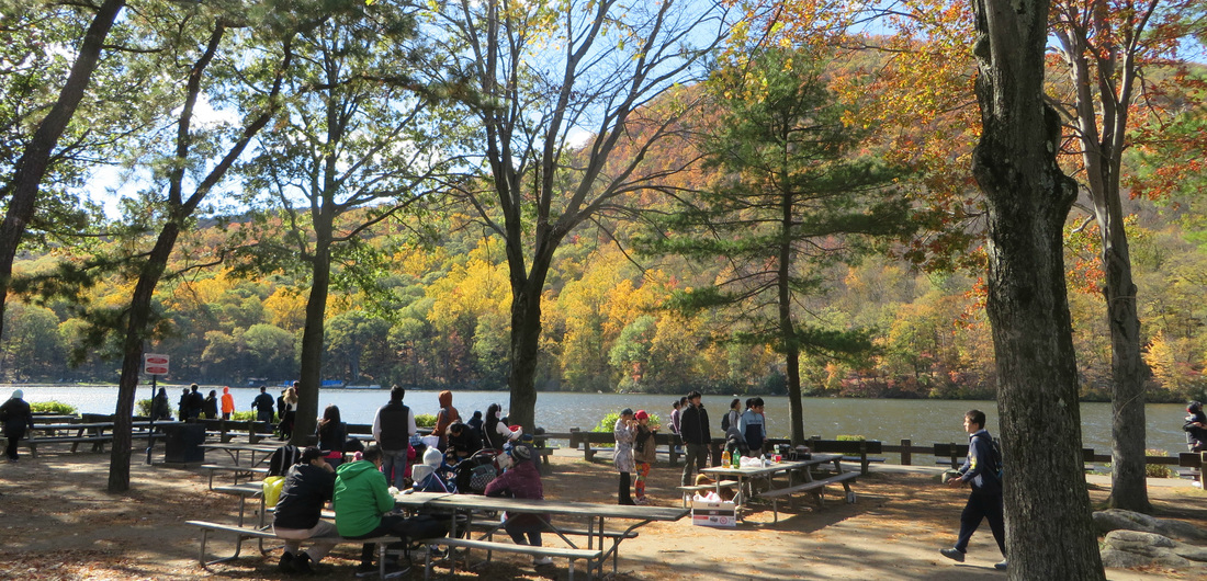 Picnicking by Hessian Lake on Bear Mountain