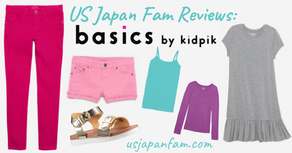 US Japan Fam reviews the stylish, comfy, and budget-friendly girls' fashion line, Basics by Kidpik