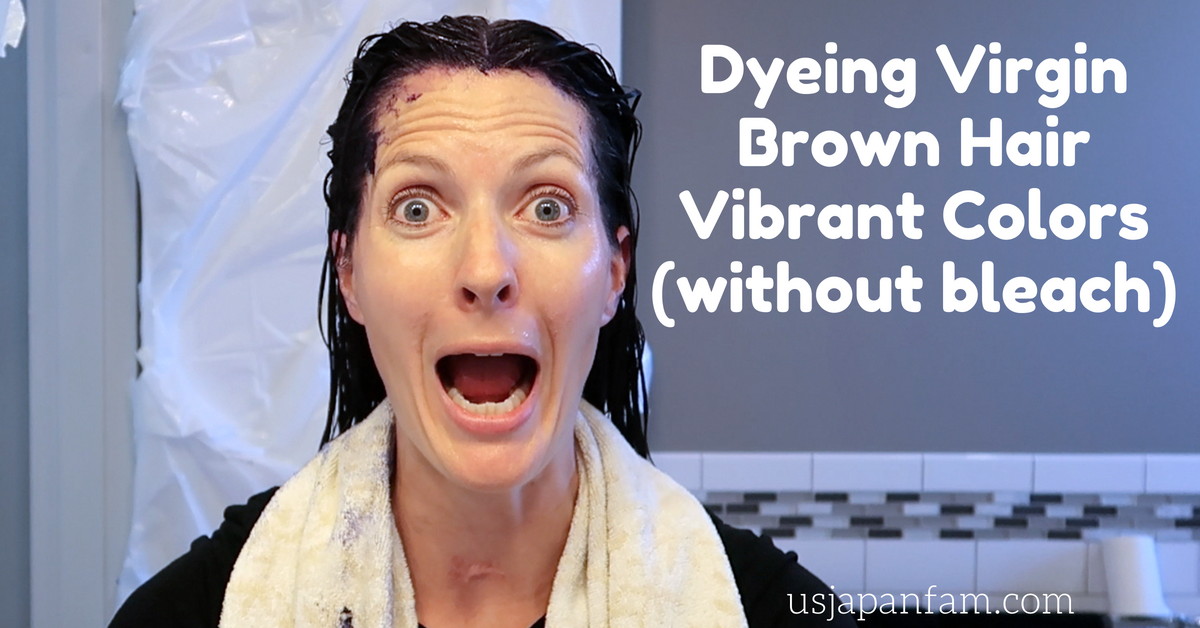 US Japan Fam - Dyeing Virgin Brown Hair Vibrant Colors (without bleach)