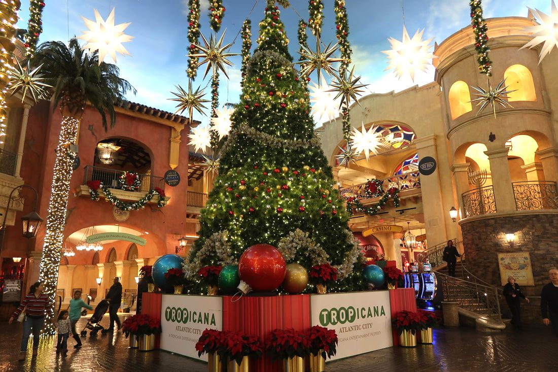 Christmas time at Tropicana Atlantic City's Quarter