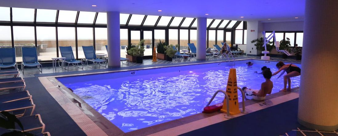 The indoor pool at Tropicana Atlantic City, on the 6th Floor of the South Tower