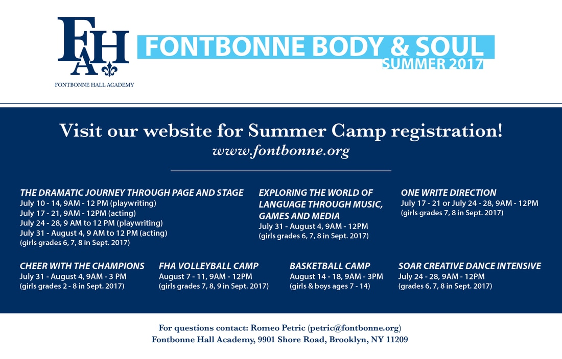 Fontbonne Summer Camp in Bay Ridge 2017
