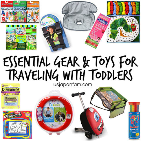 US Japan Fam's favorite gear and toys for traveling with toddlers!!