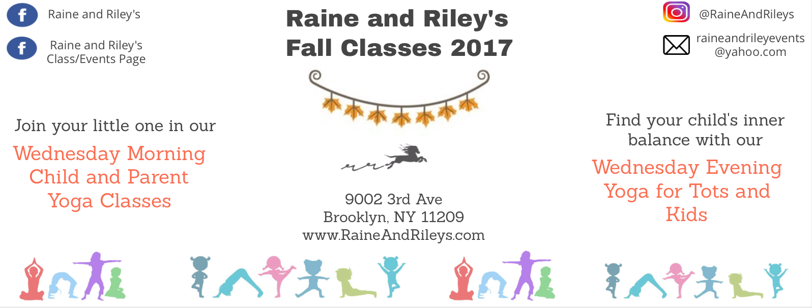 Raine and Riley's kids' yoga classes in Bay Ridge, Brooklyn