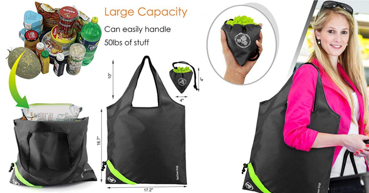 Ripstop Polyester Fabric Reusable Bag