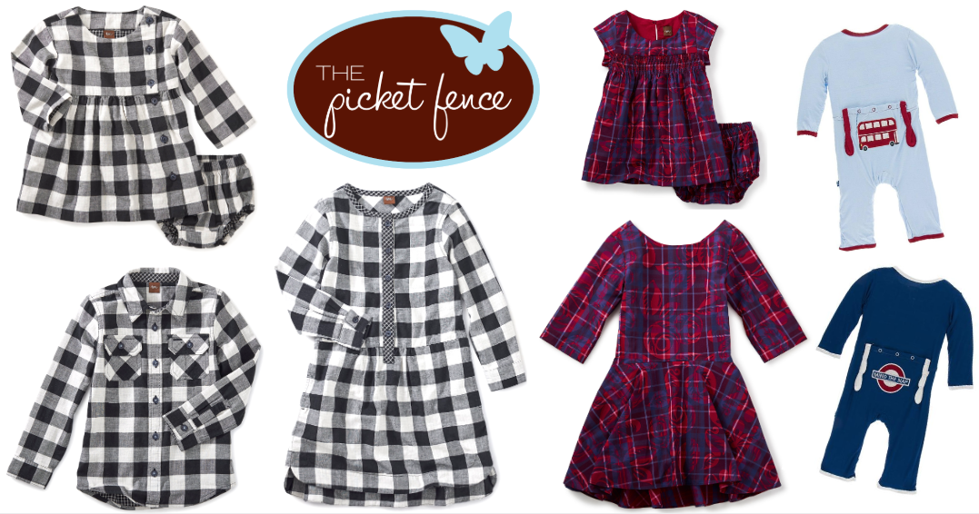 Coordinating clothes for siblings and twins at Picket Fence