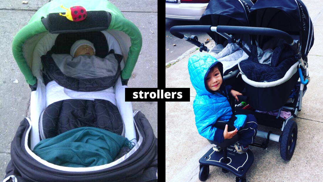 US Japan Fam - Comparing my singleton and twin pregnancy - strollers and double stroller and triple stroller