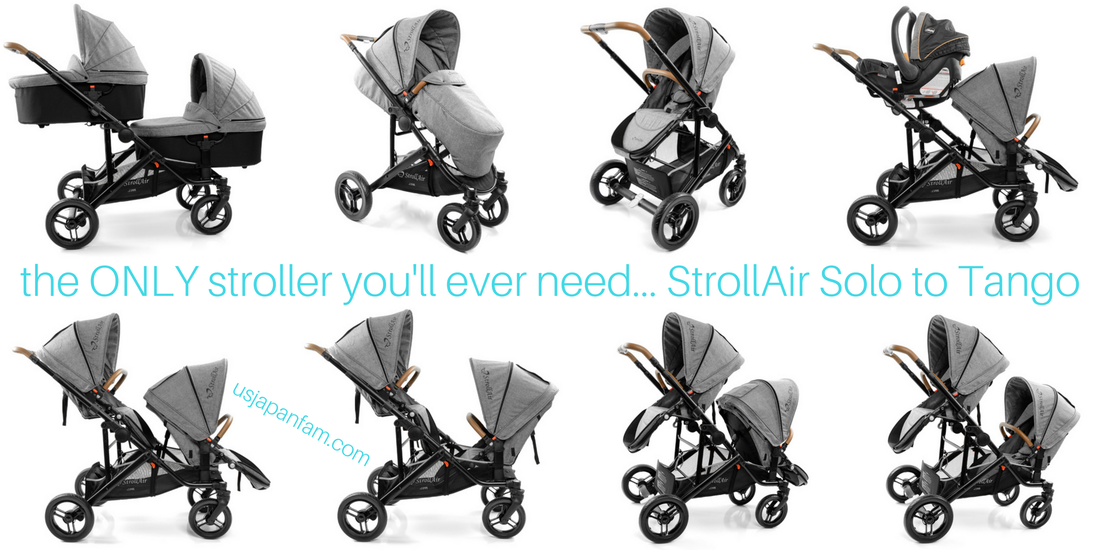 US Japan Fam reviews StrollAir's new single to double stroller, the Tango to Solo