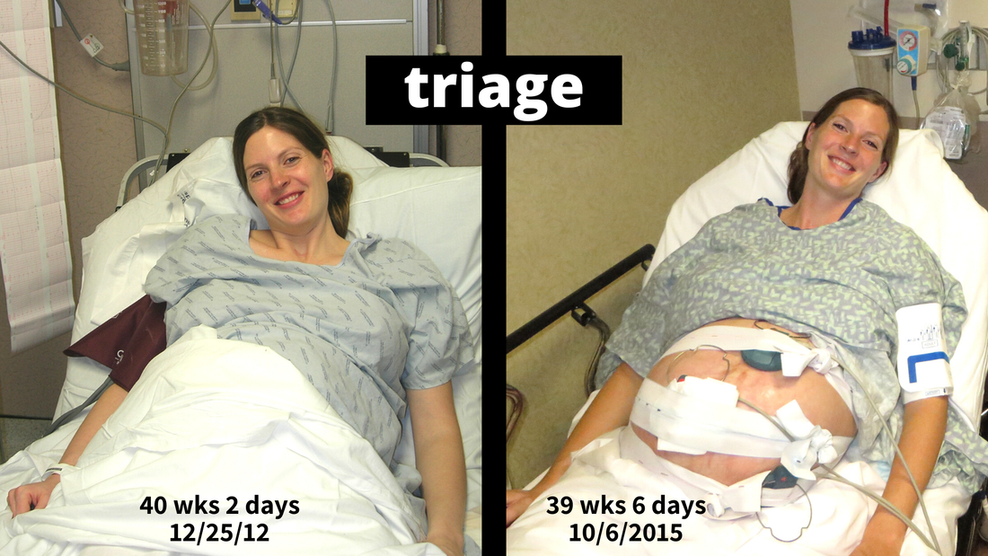 US Japan Fam - Comparing my singleton and twin pregnancy - obstetrics L&D triage for birth