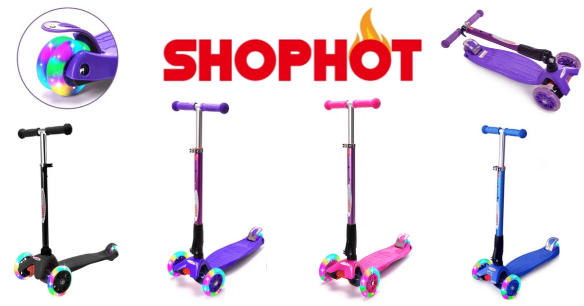 US Japan Fam's 2019 Toddler Fall Faves Giveaway featuring ShopHot Chrome Wheels Scooter