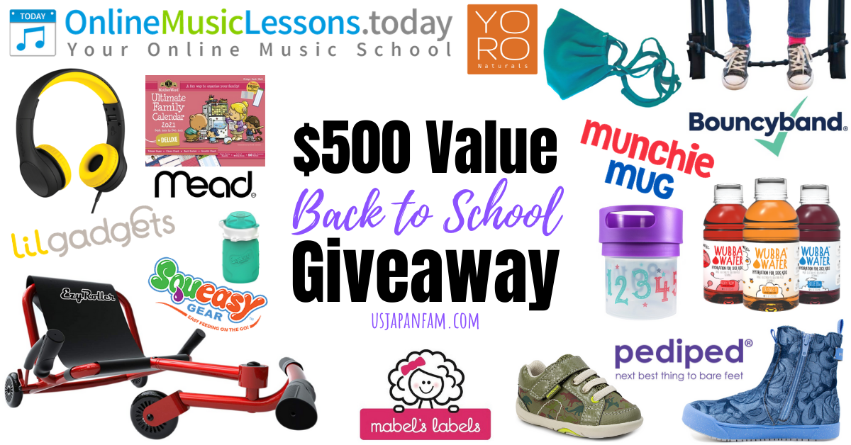 US Japan Fam US Japan Fam's $500 Value 2020 Back to School Giveaway