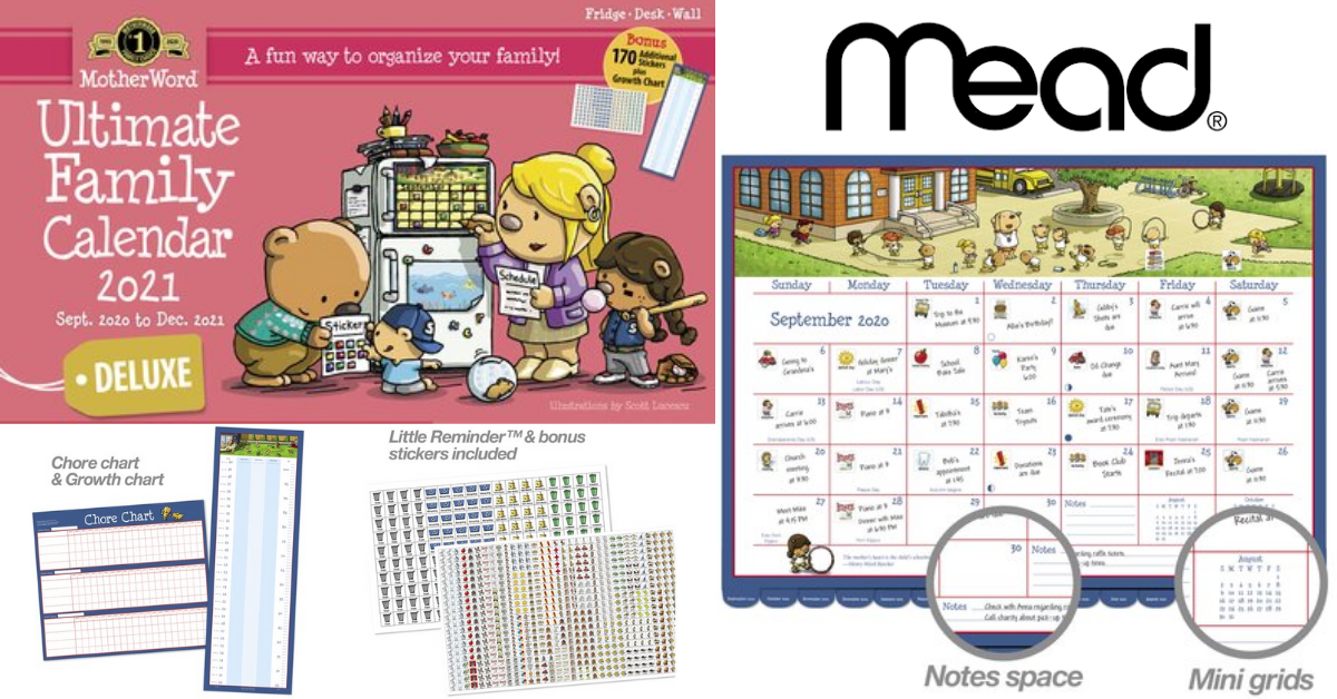 US Japan Fam 2020 Back to School Giveaway Mead MotherWord Deluxe Magnetic Monthly Family Calendar