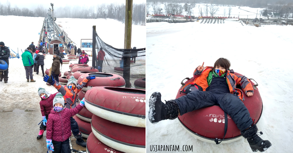 US Japan Fam reviews Crystal Springs Family Vacation during the Pandemic - Snow Tubing at Mountain Creek