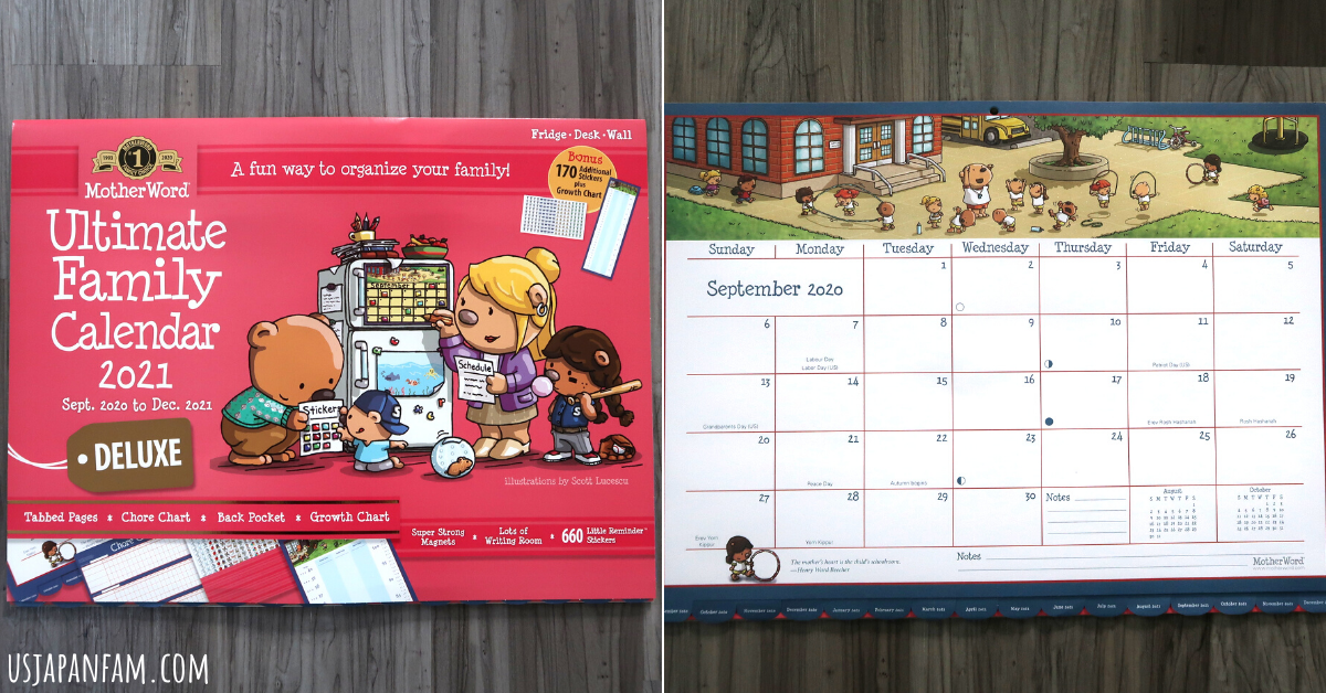 US Japan Fam reviews Mead MotherLoad Deluxe Magnetic Monthly Family Calendar