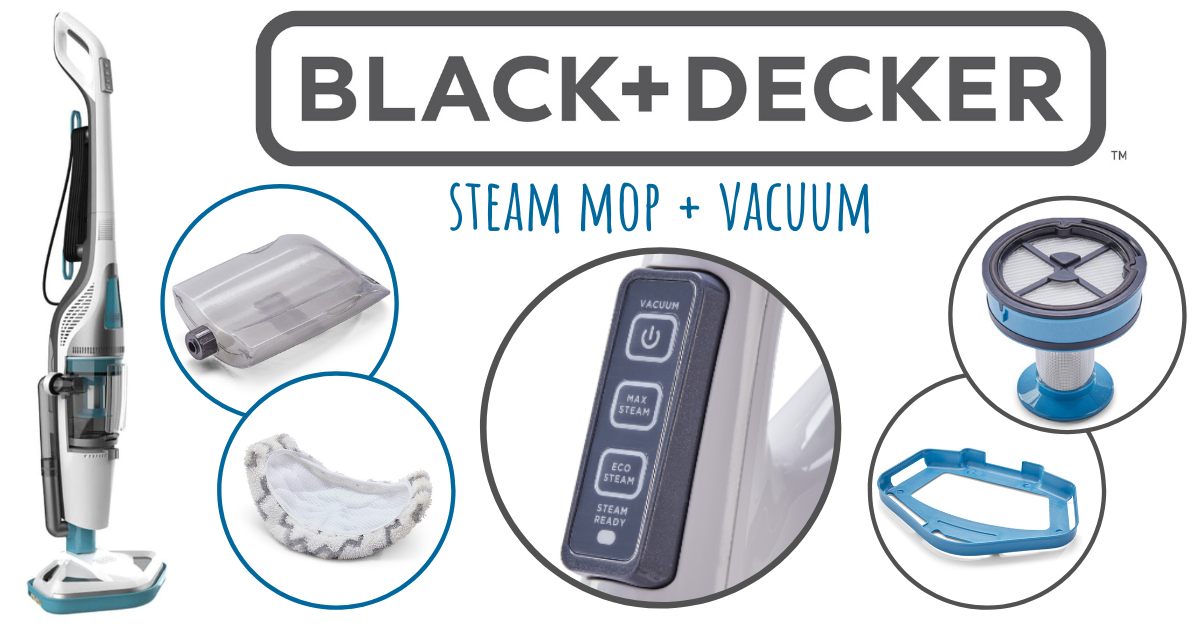 US Japan Fam Spring into Summer Giveaway - Black+Decker Steam Mop + Vacuum