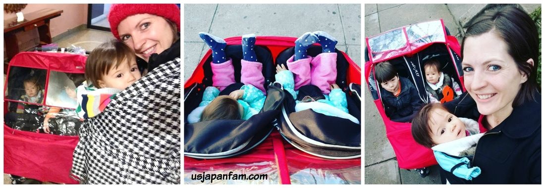US Japan Fam loves the Manito Elegance Twin Stroller Shield!!