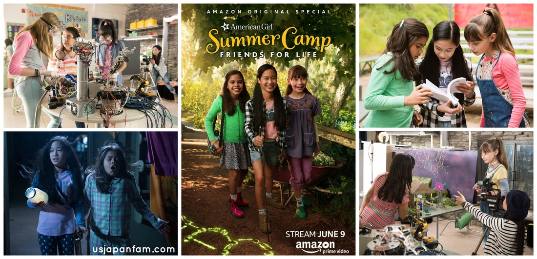 US Japan Fam reviews American Girl Story: Summer Camp, Friends for Life coming to Amazon Prime Video