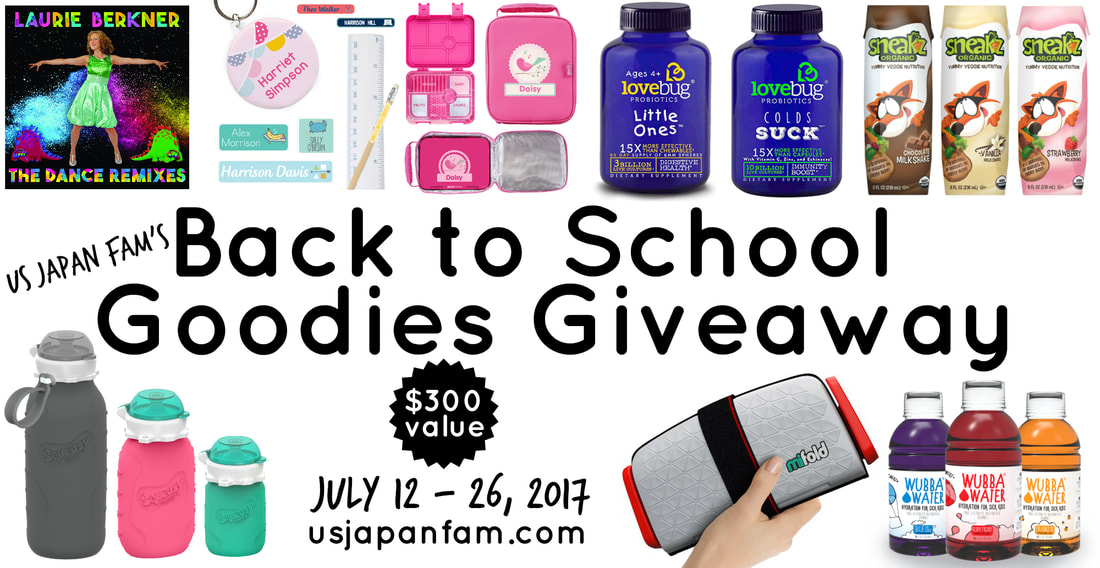 US Japan Fam's $300 value jackpot Back to School Goodies Giveaway