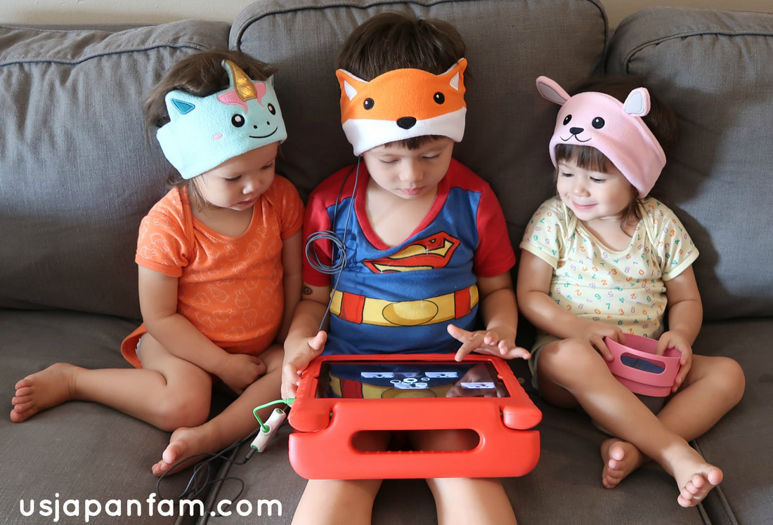 US Japan Fam reviews Cozy Phones - comfortable headphones for children and adults!
