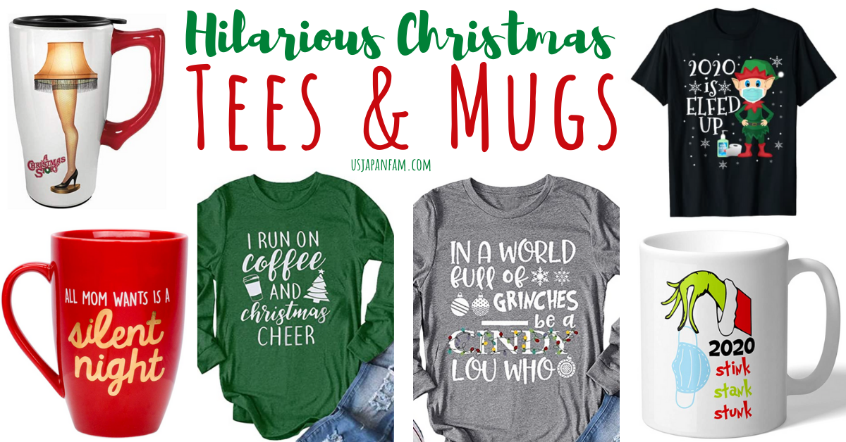 usjapanfam's favorite hilarious christmas t-shirts and holiday mugs