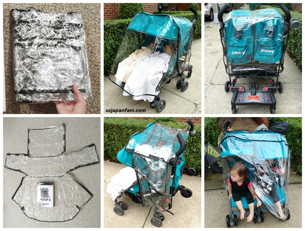 US Japan Fam reviews Joovy's TwinGroove Ultralight Double Stroller's Rain Cover