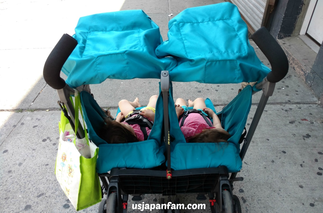US Japan Fam reviews Joovy's TwinGroove Ultralight Double Umbrella Stroller