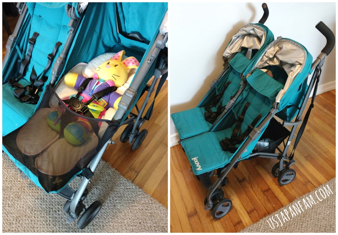 US Japan Fam reviews Joovy TwinGroove Ultralight Double Stroller - Great infant compatible seats and recline, with great view when sitting up!