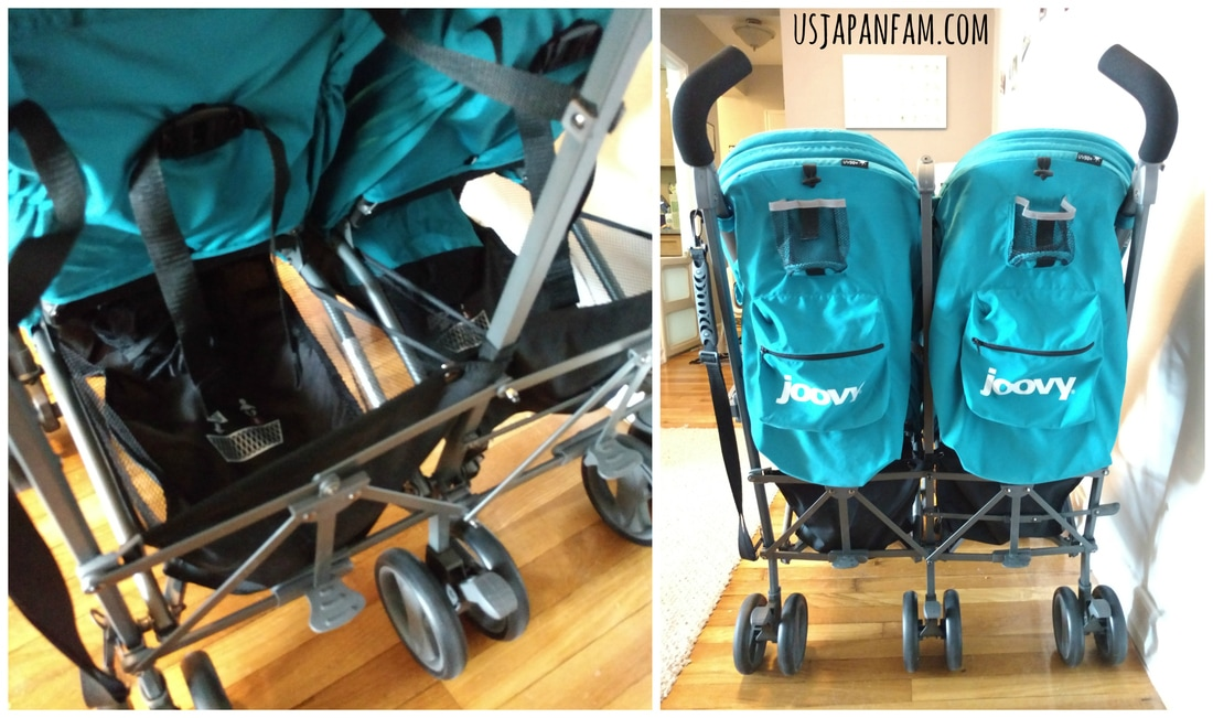 US Japan Fam reviews Joovy TwinGroove Ultralight Double Stroller - Great Storage!