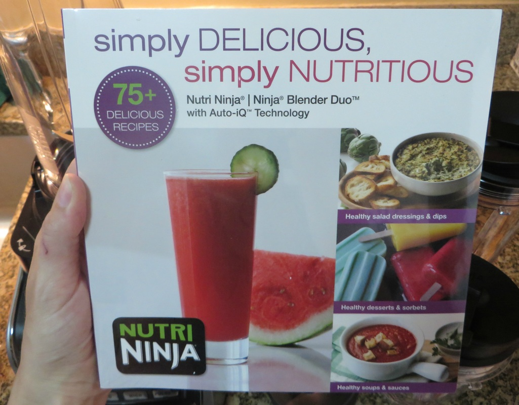 Nutra Ninja Blender Duo's recipe book
